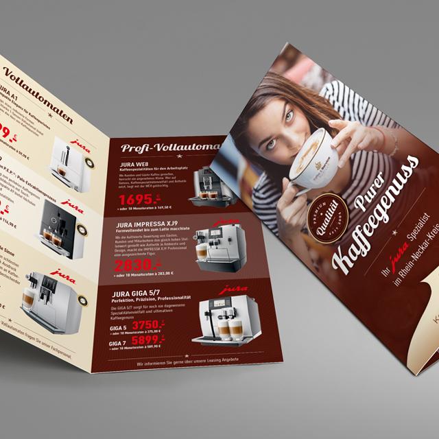 Der Waschsalong | Grafikdesign | Kaffee und Service - Flyer-Folder Design