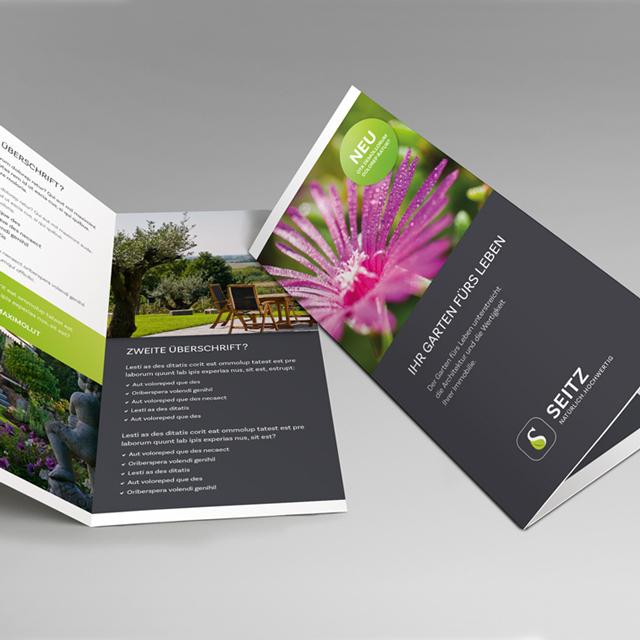 Folder Gestaltung Seitz Gartenbau